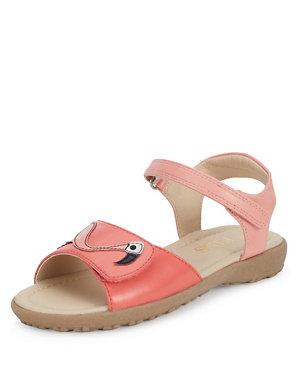 76b5531f9 Kids  Flamingo Appliqué Riptape Sandals