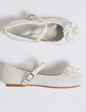 741e0b335e Kids' Glitter Bridesmaid Shoes (5 Small - 6 Large)