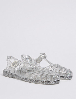 3ecb8ece8786 Kids  Glitter Jelly Sandals (13 Small - 6 Large)