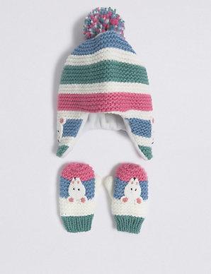 871a0cc2cd4f0 Kids  Novelty Trapper Hat   Mittens Set