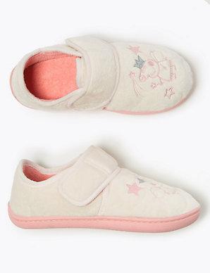 Girls Peppa Pig Unicorn Slippers Kids Pink Soft House Nursery Shoes Gift Size