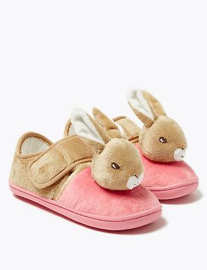 Peter Rabbit Lilly Girls Kids Novelty Slippers Pink UK Size