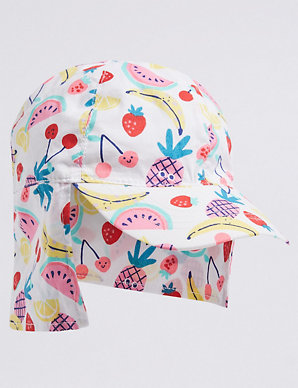 Kids' Pure Cotton Legionnaire Fruit Print Hat (0 Month - 6 Years)