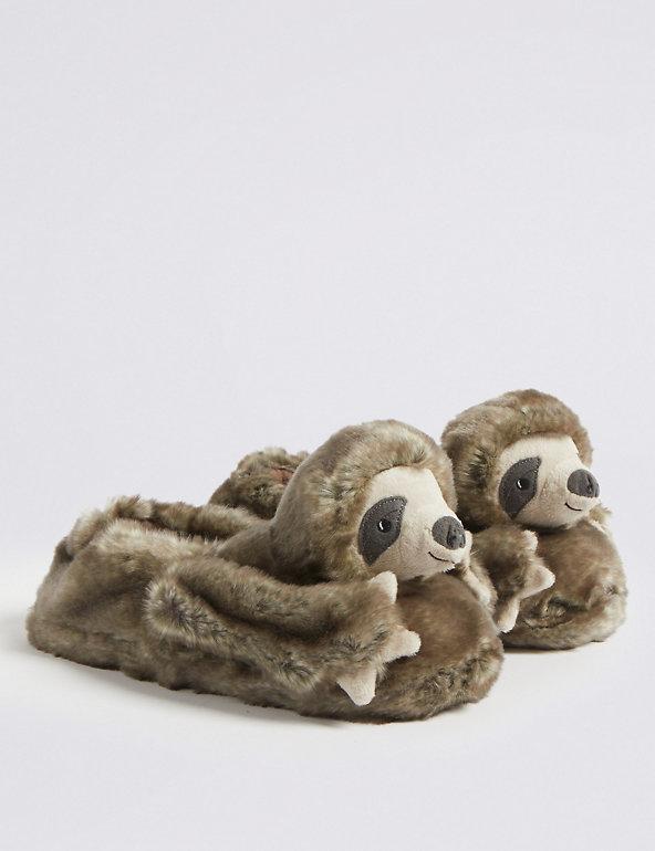 Slumberzzz Childrens//Kids Sloth Slippers SL713