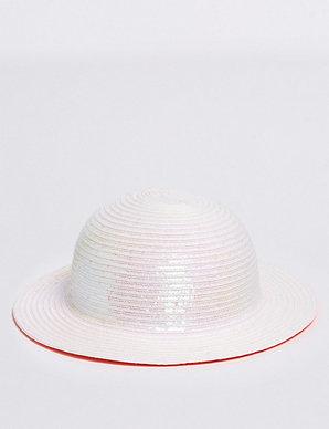 bf2225c10 Kids' Straw Floppy Hat with Sun Smart UPF50+ (6 Months -14 Years)   M&S