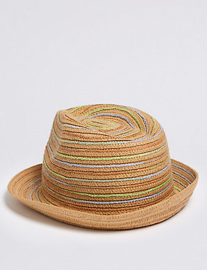 d7c00b7b5 Kids' Straw Trilby Hat (6 Months - 6 Years) | M&S