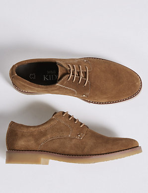 b4a00f43da41 Kids' Suede Derby Shoes (13 Small - 7 Large) | M&S