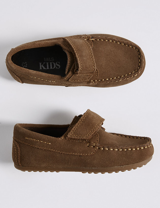 Kids' Suede Riptape Shoes (5 Small - 12 Small)