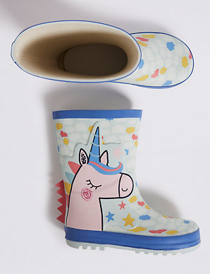 75b9fa2ea66f1 Kids' Unicorn Wellies (5 Small - 12 Small) | M&S