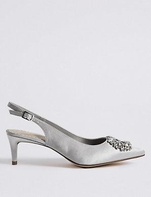 ac65ff5b8ff Kitten Heel Jewel Pointed Toe Court Shoes