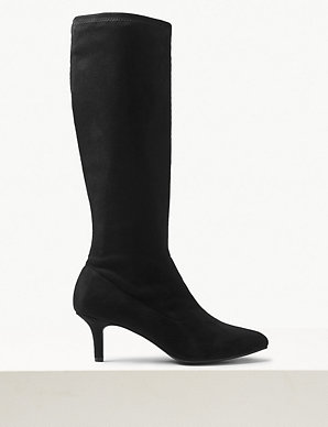 7ba4cd25217 Kitten Heel Knee High Boots