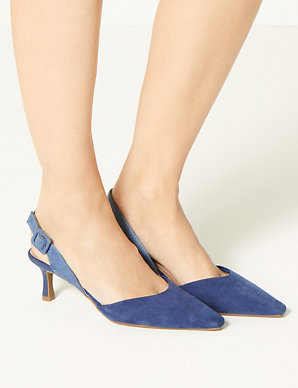 e550c465f0 Kitten Heel Slingback Shoes | M&S Collection | M&S