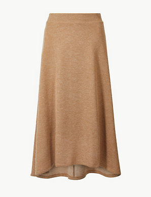 0f6ac7a94d Knitted A-Line Midi Skirt | M&S Collection | M&S