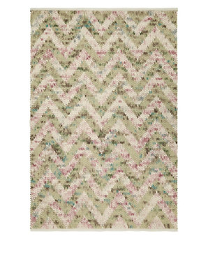 Knitted Chevron Rug | M&S