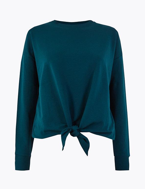 Knot Front Sweatshirt