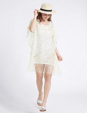 e192a877f4 Lace Short Sleeve Kaftan | M&S Collection | M&S