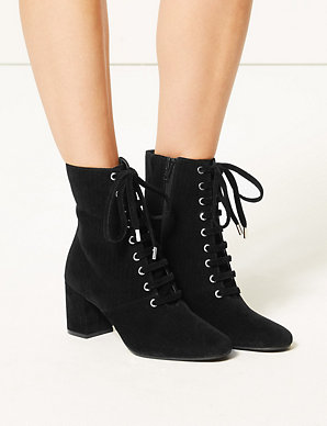 210fa021c4 Lace-up Ankle Boots | M&S Collection | M&S