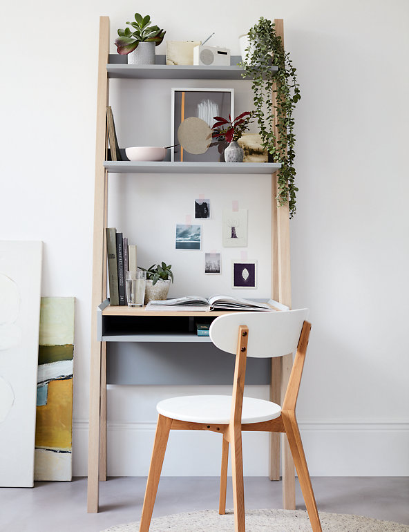 Ladder Shelving Desk Loft M S, Ladder Shelf Storage Desk