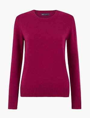 Lambswool Round Neck Jumper | M&S Collection | M&S