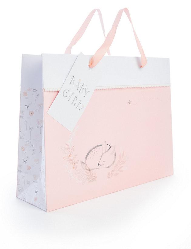 Large Baby Girl Gift Bag | M&S