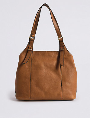 edac8d00 Leather 3 Compartment Hobo Bag | M&S Collection | M&S