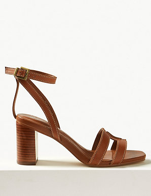 8ae62b8b9e9ae Leather Ankle Strap Sandals