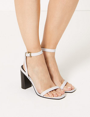 ed6dfb04e0 Leather Ankle Strap Sandals | M&S Collection | M&S