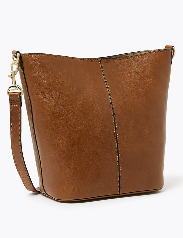Leather Bucket Bag | M&S Collection | M&S