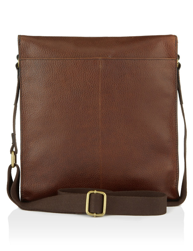Leather Cross Body Messenger Bag
