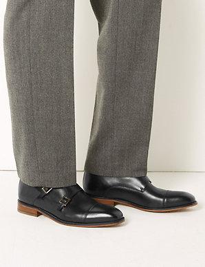 4a8c5d7c340e Leather Double Monk Strap Shoes