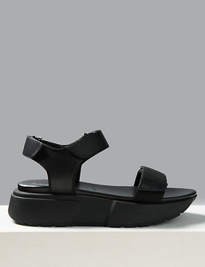 Sandals Leather Flatform Two Flatform Band Leather Two bg67yf