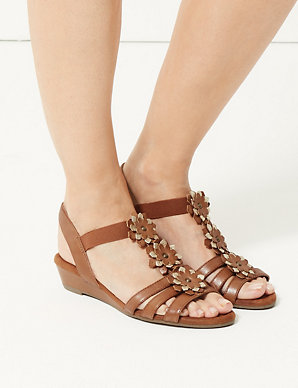2e4c1ef01a37 Leather Flower Sandals