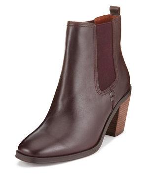 14efce7b0e4 Leather Heeled Chelsea Ankle Boots