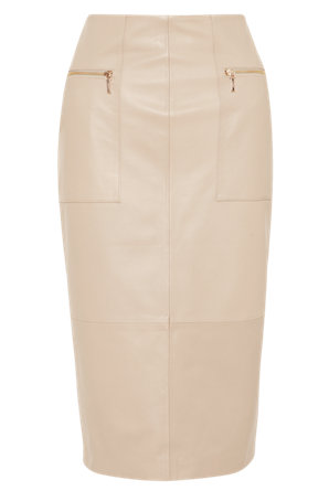 fc594c9749 Product images. Skip Carousel. Leather Panelled Pencil Skirt