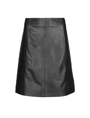 f26928a18f Leather Quilted A-Line Mini Skirt | M&S Collection | M&S