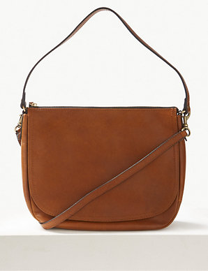 c267422f8c2c Leather Saddle Shoulder Bag | M&S Collection | M&S