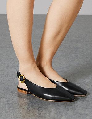 a6bffa7fa2c Product images. Skip Carousel. Leather Square Toe Slingback Shoes