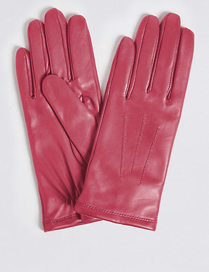 627a389cd6e3a Leather Stitch Detail Gloves | M&S Collection | M&S