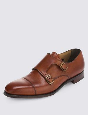 be0884c38ce Leather Toe Cap Monk Shoes