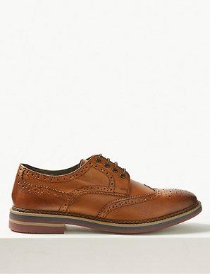 e44c71d111435 Leather Trisole Brogue Shoes | M&S Collection | M&S