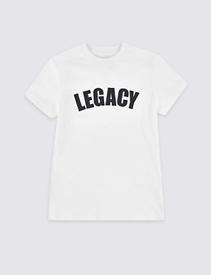 f9f248a4697 Legacy Pure Cotton T-Shirt (3-16 Years)