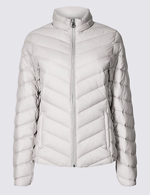 7b81392c2fc Lightweight Down & Feather Jacket | M&S Collection | M&S