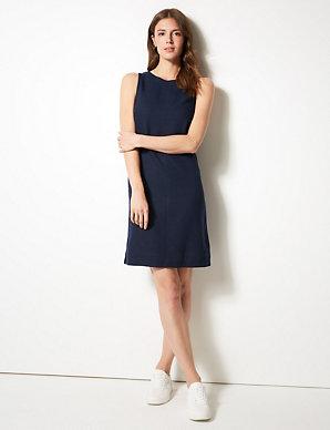d41c3e2c5 Linen Rich Shift Dress | M&S Collection | M&S