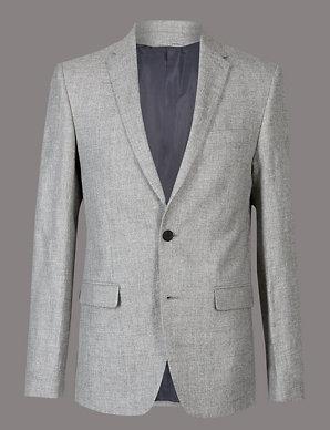 2ac593524758c Linen Rich Tailored Fit Textured Jacket | Autograph | M&S