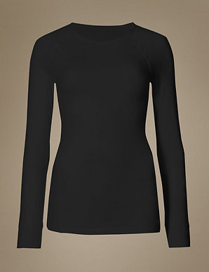 63bc2cfa Long Sleeve Thermal Top | M&S Collection | M&S