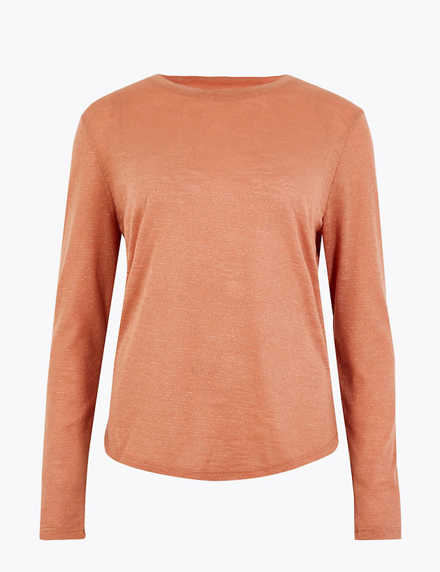 Lurex Striped Relaxed T-Shirt