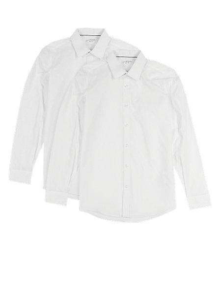2 Pack Senior Boys' Non-Iron Shirts