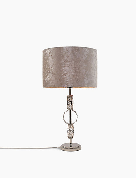Faceted Glass Ring Table Lamp
