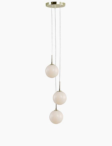 Opal Globe 3 Light Cluster