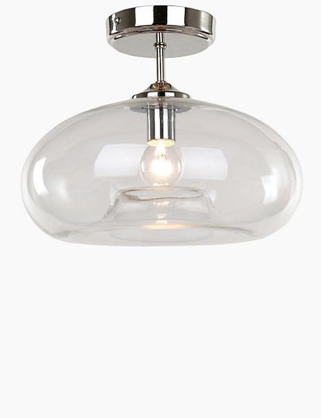 Flush Glass Ceiling Light